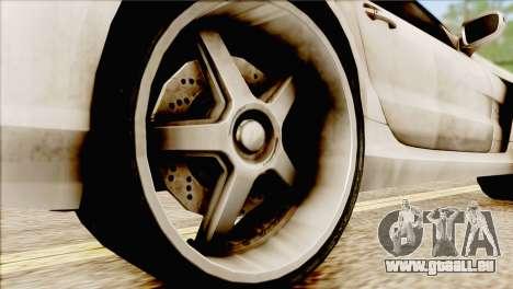 Mercedes-Benz SL65 AMG BS 2009 pour GTA San Andreas sur la vue arrière gauche