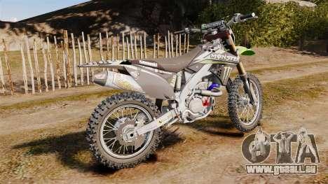 Kawasaki KX250F Monster Energy für GTA 4 linke Ansicht