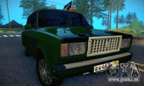 VAZ 2107 VDV pour GTA San Andreas vue intérieure