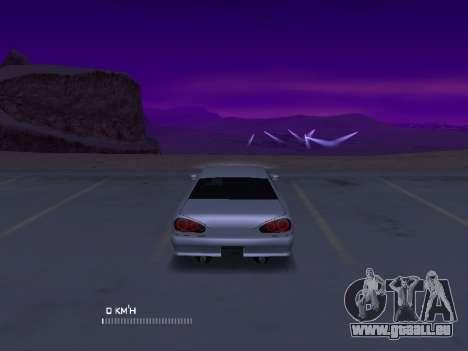 Elegy Stock Glases pour GTA San Andreas sur la vue arrière gauche