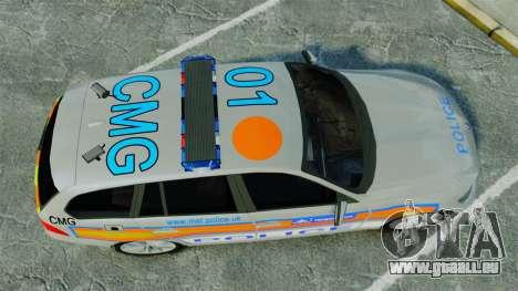 BMW 330i Touring Metropolitan Police [ELS] für GTA 4 rechte Ansicht