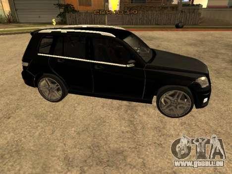 Mercedes-Benz GLK pour GTA San Andreas laissé vue