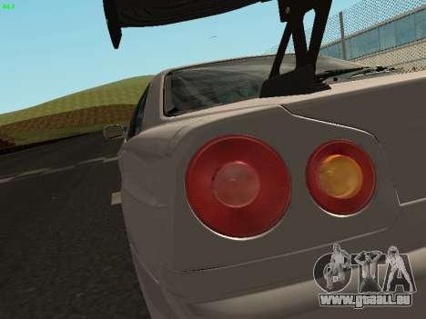 Nissan Skyline BNR34 für GTA San Andreas Rückansicht