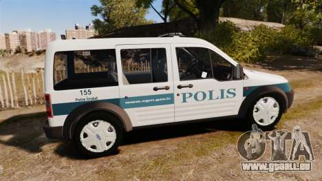 Ford Transit Connect Turkish Police [ELS] v2.0 pour GTA 4 est une gauche