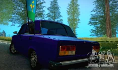 VAZ 2107 VDV pour GTA San Andreas sur la vue arrière gauche