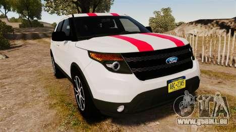 Ford Explorer Sport 2014 pour GTA 4