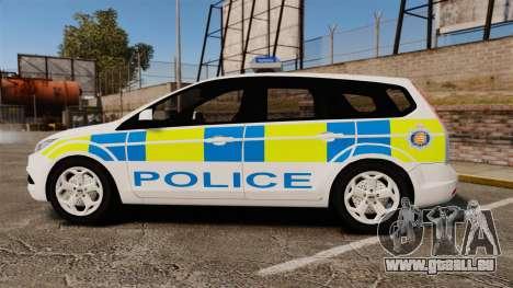 Ford Focus Estate Essex Police [ELS] pour GTA 4 est une gauche
