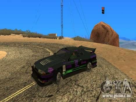 Équipe de Luni vinyles pour Elegy pour GTA San Andreas sur la vue arrière gauche