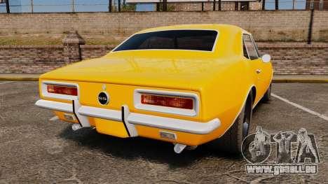 Chevrolet Camaro SS 1967 für GTA 4 hinten links Ansicht