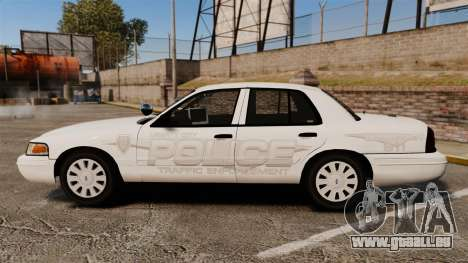 Ford Crown Victoria Traffic Enforcement [ELS] für GTA 4 linke Ansicht