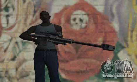 M82A1 Barret .50cal für GTA San Andreas dritten Screenshot
