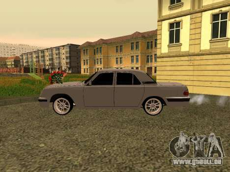 GAZ 31105 Wolga für GTA San Andreas zurück linke Ansicht