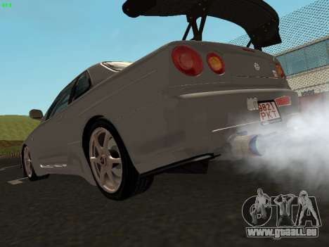 Nissan Skyline BNR34 pour GTA San Andreas laissé vue