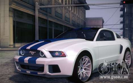 Ford Mustang 2013 - Need For Speed Movie Edition pour GTA San Andreas laissé vue