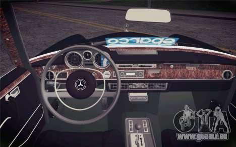 Mercedes-Benz 300 SEL pour GTA San Andreas vue de droite