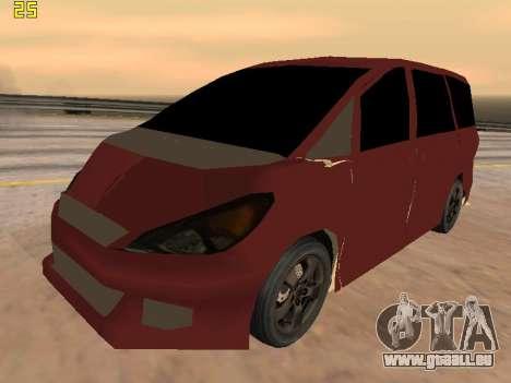 Toyota Estima 2wd pour GTA San Andreas vue intérieure