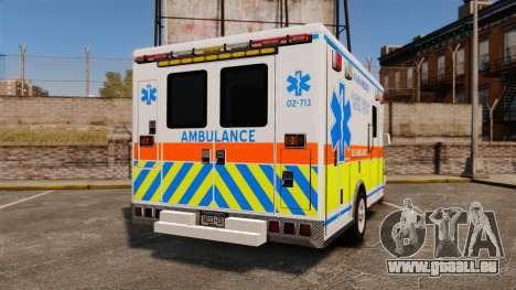 GMC Savana 2005 Ambulance [ELS] pour GTA 4 Vue arrière de la gauche