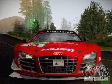 Audi R8 LMS Ultra Old Vinyls pour GTA San Andreas vue de dessus