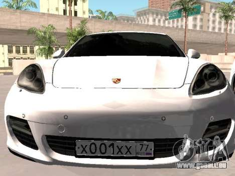 Porsche Panamera 2011 pour GTA San Andreas vue arrière