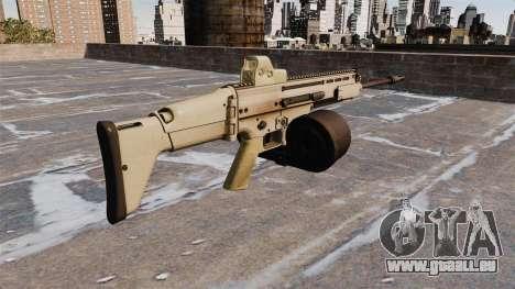 Selbstladegewehr FN SCAR-H LMG für GTA 4 Sekunden Bildschirm
