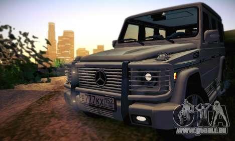 Mercedes-Benz G500 pour GTA San Andreas vue de dessous