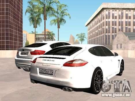 Porsche Panamera 2011 pour GTA San Andreas sur la vue arrière gauche