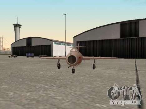 MiG 15 Bis pour GTA San Andreas sur la vue arrière gauche