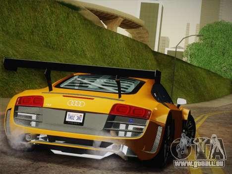 Audi R8 LMS Ultra W-Racing Team Vinyls für GTA San Andreas Unteransicht