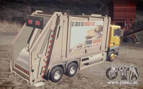 MAN TGS 18.320 Trash Truck pour GTA San Andreas laissé vue