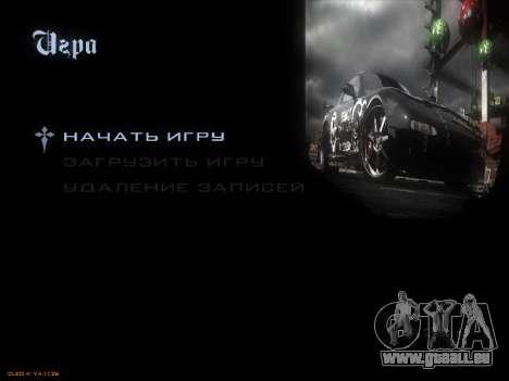 Menu NFS pour GTA San Andreas sixième écran
