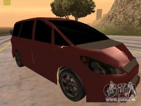 Toyota Estima 2wd pour GTA San Andreas sur la vue arrière gauche