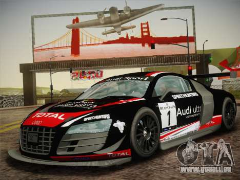 Audi R8 LMS Ultra W-Racing Team Vinyls für GTA San Andreas rechten Ansicht