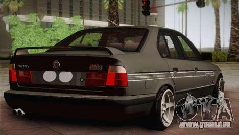 BMW E34 Alpina B10 pour GTA San Andreas sur la vue arrière gauche