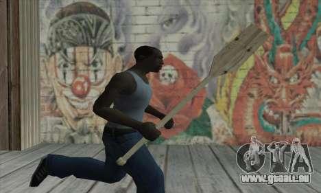 The wooden paddle pour GTA San Andreas troisième écran