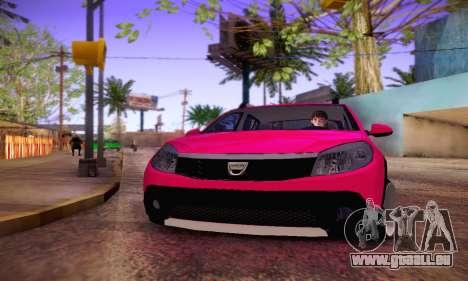 Dacia Sandero für GTA San Andreas Rückansicht