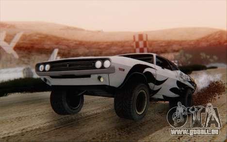 Dodge Challenger 1971 Aftermix pour GTA San Andreas laissé vue
