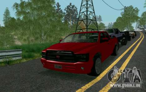GTA V Bison Version 2 FIXED für GTA San Andreas zurück linke Ansicht