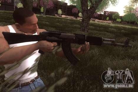 AK-103 pour GTA San Andreas deuxième écran