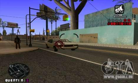 C-HUD Quentin für GTA San Andreas sechsten Screenshot