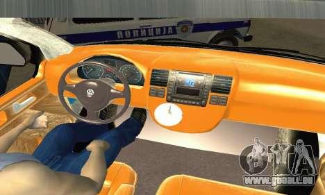 Volkswagen Transporter Policie pour GTA San Andreas vue de droite