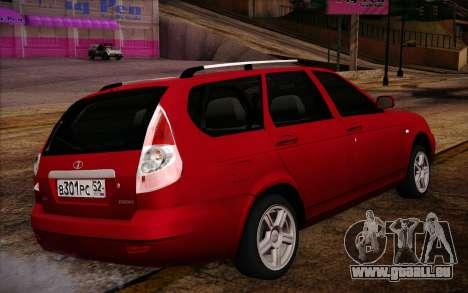 VAZ 2171 Priora pour GTA San Andreas sur la vue arrière gauche