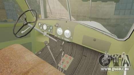 ZIL-157 GVK-32 für GTA 4 Innenansicht
