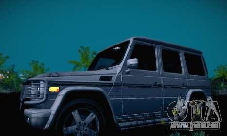 Mercedes-Benz G500 pour GTA San Andreas vue intérieure