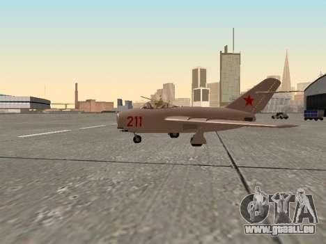 MiG 15 Bis für GTA San Andreas linke Ansicht