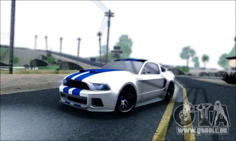 Ford Mustang GT 2013 v2 pour GTA San Andreas salon