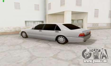Mercedes-Benz 600SEL pour GTA San Andreas vue de droite