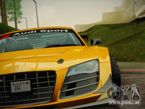 Audi R8 LMS Ultra W-Racing Team Vinyls für GTA San Andreas Innen