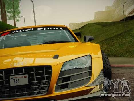 Audi R8 LMS Ultra W-Racing Team Vinyls pour GTA San Andreas salon