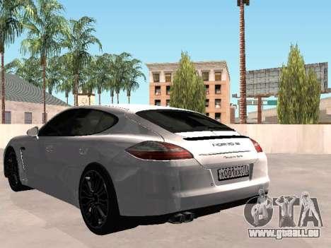 Porsche Panamera 2011 pour GTA San Andreas laissé vue