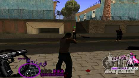 C-HUD Ballas by HARDy für GTA San Andreas dritten Screenshot